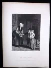 After David Wilkie C1870 Antique Print. The Dorty Bairn